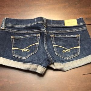 Gilly Hicks cheeky stretch shorts.  Inseam 2.5